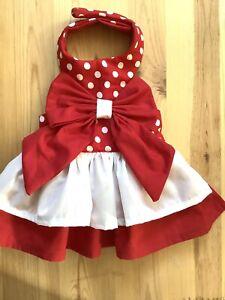 Handmade Polkadots Doggie Dress Size Medium