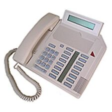 Five Refurbished Ash Nortel M2616D Phones, Nortthern Telecom Meridian Options