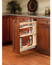 Kitchen Pull Out Wood Cabinet Organizer Shelf Spice Rack Storage Drawer Shelves