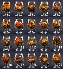 20 pcs Handmade Blooming Flower Tea Balls Art Herbal Tea Wedding Gift - 20 Kinds