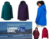 "NWT Lands End Women's ""Weather Channel"" Hooded Squall Parka in L/P, XL/P, 1X/T"