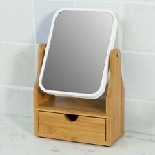 SoBuy® Free Standing Bamboo Make Up Table Mirror Cosmetic Mirror, FRG245-N,UK