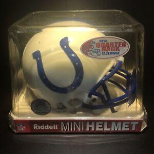 Riddell Indianapolis Colts Mini Football Helmet NFL Vintage New In Box! QB Mask