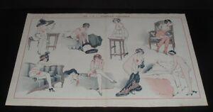 LQQK  vintage 1911 original RISQUE FRENCH ART from LA VIE PARISIENNE #32