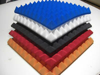 Pyramiden Schaumstoff Akustik Dämmung Noppenschaum Schallisolierun 30cm*30cm*5cm