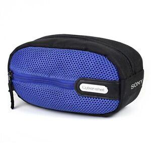 Original Sony Compact Camera Bag Soft Blue Black Case Cyber-shot DSC-P Series