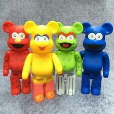 4Pcs of One set 400% bearbrick Bear@brick Cosplay Kaws Sesame Elmo PVC Action Fi