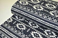 KOKKA JAPAN Designerstoff 0,5m CANVAS AZTECA AZTEKEN MEXIKO PHOENIX OTO BLACK