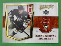 2007-08 Upper Deck MVP Monumental Moments # MM1 Sidney Crosby Pittsburgh