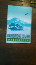 POST CARD  BAINBRIDGE ISLAND WASHINGTON NICE VIEW STATE FERRY/ MT RAINIER COLOR