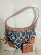 Coach Handbag w wallet hobo Ergo 12748 Denim Blue  Saddle Leather  Bag Shoulder
