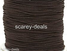 10 METERS 1mm thick BROWN COTTON COVERED ELASTIC THREAD CORD 10M