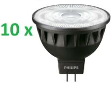 10 X Philips Foco Led Master Expert MR16 Gu5.3 Foco 6,5 -35w 3000k Regulable 36°