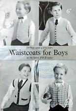 KNITTING PATTERN How To Make BOYS WAISTCOATS VESTS 4 Designs CHILDREN 4-9 Years
