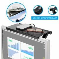 TV Top Shelf Screen Shelf Tray Multifunction Adjustable Monitor Storage Rack