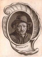 Portrait Rembrandt Harmenszoon Van Rijn Pays Bas Peinture Flamande Baroque 1762