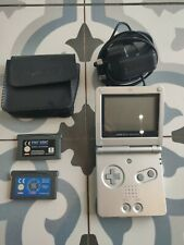 Nintendo Game Boy Advance SP Console and games.