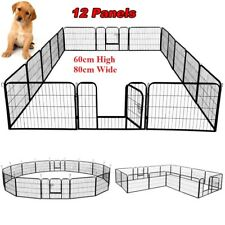 12 Panel Pet Play Pen Portable Cage Fence Enclosure Dog Puppy Cat Rabbit Chicken