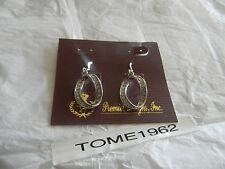 Premier Designs REGAL crystal loop earrings RV $34 FREE ship w/bin