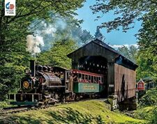 Jigsaw Puzzle Train Most Unusual Sight Steam Locomotive 750 pieces NEW Made USA