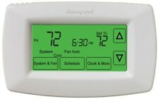 Honeywell Thermostat Touchscreen 7 Day Programmable Battery Powered Hardwired