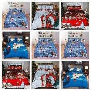Christmas Range 3D duvet Set Santa Father Christmas Greetings Limited Edition