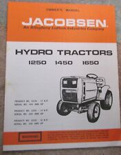 New listing Circa late 1970's/early 1980's Jacobsen 19 page Operator's & Parts Manual