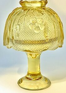 Amber Glass Fairy Lamp Votive Candle Holder