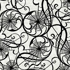 Hallowgraphix Brights Webs Gray Quilt Fabric - Free Shipping - 1 Yard