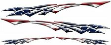 "USA Flag Racing Boat Car Truck Graphic Decals Vinyl Stickers Wrap 2- 50""  2- 24"""