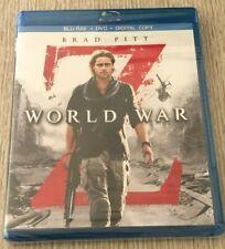 WORLD WAR Z  Blu-Ray + DVD + Digital Copy - New