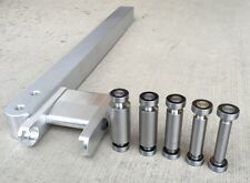 KNIFE MAKING SET: SMALL WHEEL HOLDER, 5 SMALL  WHEELS, 6061 ALUMINUM TOOL ARM