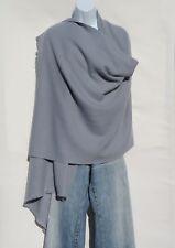 100% Cashmere|Shawl/Wrap|4 Ply|Hand Loomed|Nepal|Mini Herringbone|Silver Gray