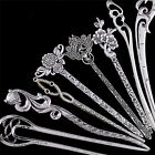 Hair Sticks Pins Silver Alloy Geometric Headbands Lady Hair Clip Accessories FT