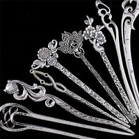 Hair Sticks Pins Silver Alloy Geometric Headbands Lady Hair Clip Accessories ~*