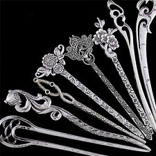 Hair Sticks Pins Silver Alloy Geometric Headbands Lady Hair Clip Accessories RS