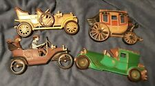 Vintage Homco 3 Antique Cars & Stagecoach Wall Hangings
