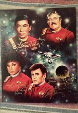 Star Trek The Original Series Signed Photo Takei, Doohan,Nichols,Koenig 224/300