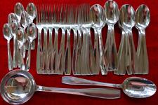 ATLAS LANEL SET Christofle 38 pcs Silver-plate Table Diner Forks Spoons Ladle