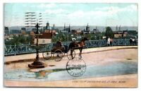 1908 View from Sherburne Ave. St. Paul, MN Postcard