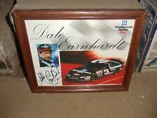 Dale Earnhardt Sr Handout Postcard Card Autographed 3 GM Goodwrench Service Plus