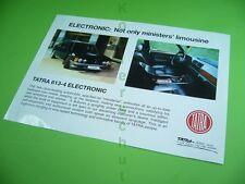 406KA2 90er Jahre Automobil - Prospekt, Blatt (um 1994): TATRA 613-4 ELECTRONIC