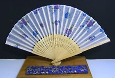 Beautiful Chinese Hand Held Fan Blue