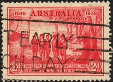 Australia 1937 KGVI 2d NSW Sesqui with Pantaloon Flaw Retouch Used *REDUCED*
