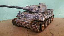 heng long 1/16 tiger 1 rc model tank winter camouflage