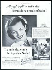 1948 RN nurse model Mary Louise Shine photo Pepsodent toothpaste print ad