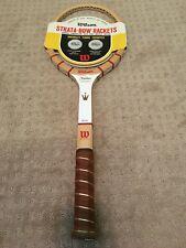 "Wilson Jack Kramer Autograph Wood Tennis Racket 4-5/8"" Medium New Rare"