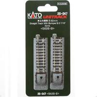 Kato 20-047 Rail Fin de Voie / Single Track With Bumper B 62mm 2pcs - N