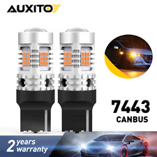 7440 Canbus Error Free Amber LED Turn Signal Lights No Hyper Flash Super Bright