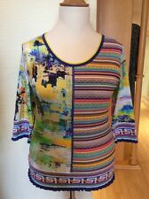 Olivier Philips Top Size 16 BNWT Yellow Green Pink Blue Striped RRP £111 Now £44
